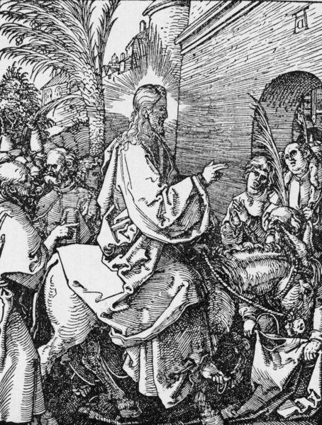 Duerer, Einzug in Jerus/ Kleine Passion - Entry into Jersualem / Duerer / c.1509 -