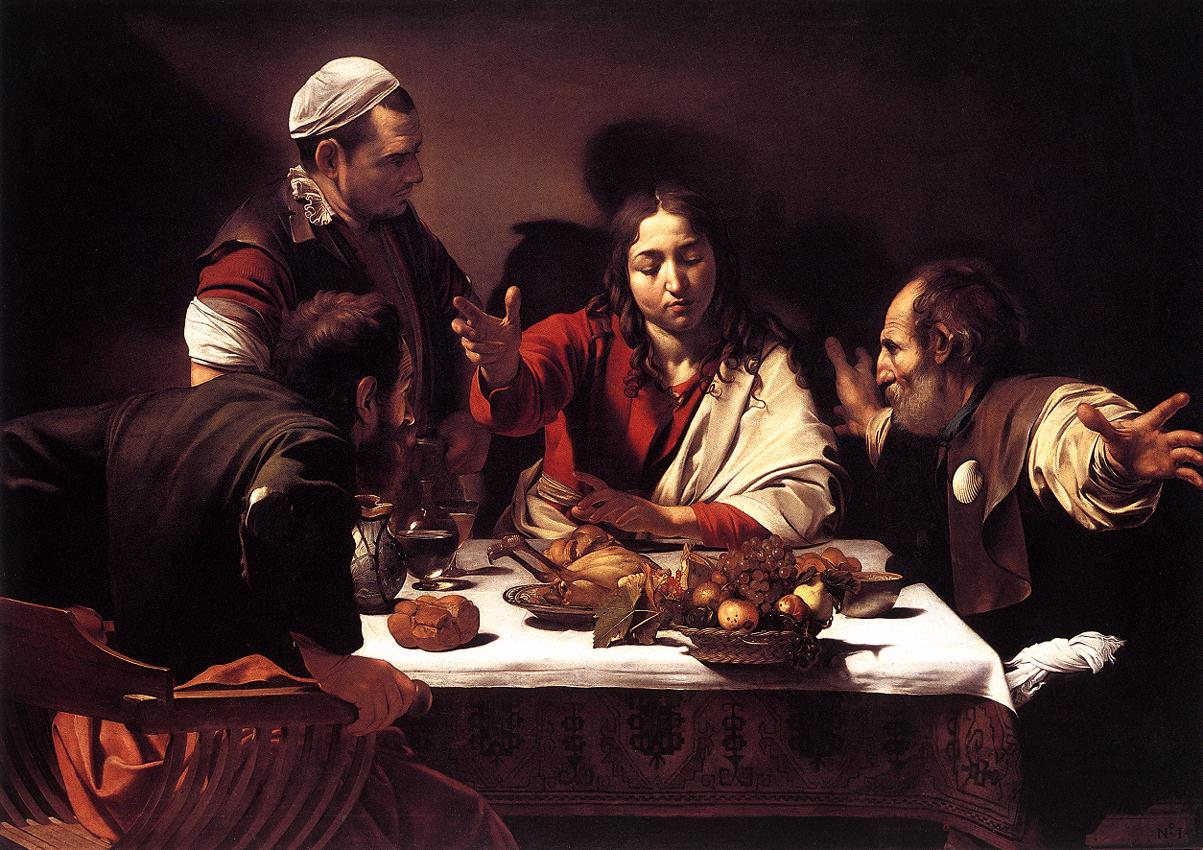 Caravaggio, De Emmaüsgangers