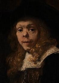 Rembrandt, portret van Gerard de Lairesse, 1667